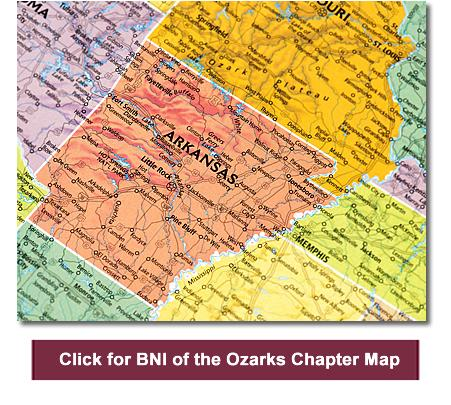 Ozarks Arkansas Map.Bni Of The Ozarks Chapters Business Networking Referral Marketing